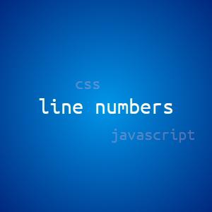 Нумерация строк внутри тэгов pre,code используя css и javascript