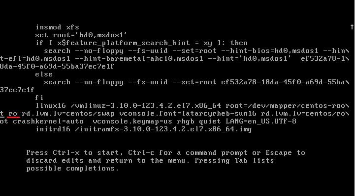 Сбросить пароль пользователя Root в Centos 7 2