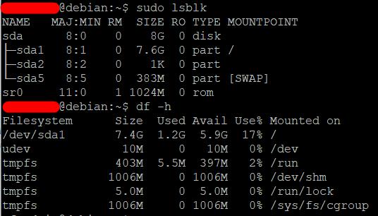Расширить корневой раздел (ext4, не LVM) диска в Debian 2