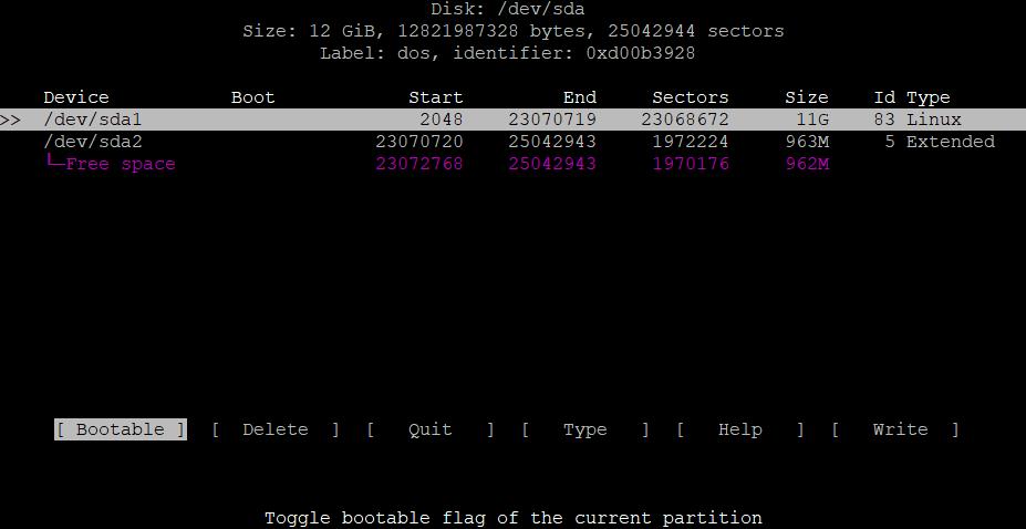 Расширить корневой раздел (ext4, не LVM) диска в Debian 7