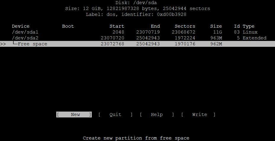 Расширить корневой раздел (ext4, не LVM) диска в Debian 8