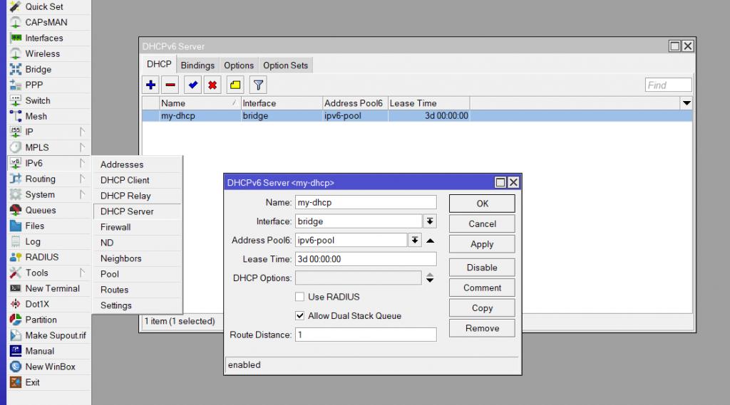 Настраиваем IPv6 от Ростелеком в роутере Mikrotik 7